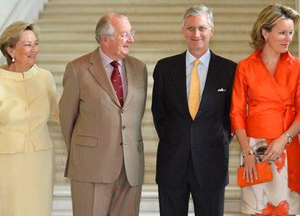 Albert och Paola & Philippe och Mathilde bjöd in till möte på slottet