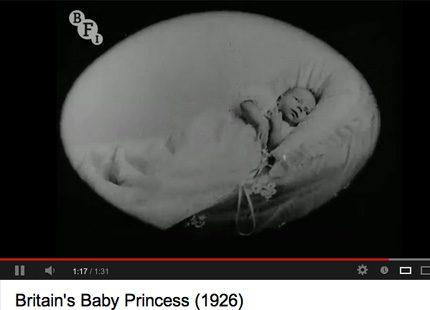 I väntan på den kungliga babyn - se film med prinsessan Elizabeth