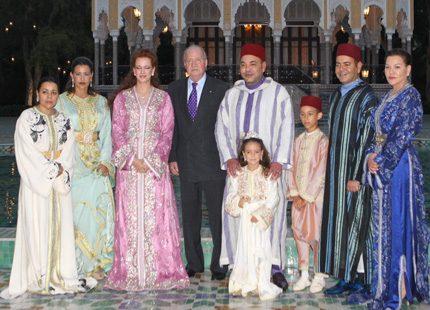 Kung Juan Carlos hälsade på hos kungen av Marocko
