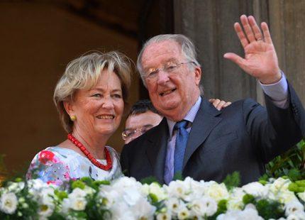 Kungligt besök i Liège för Albert och Paola