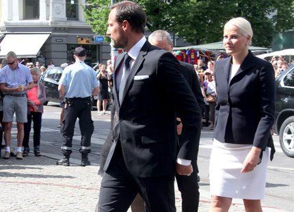 Mette-Marit och Haakon välkomnade den ryske presidenten