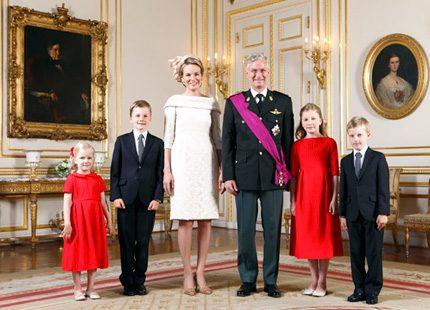 Officiella bilder på Belgiens nya kungapar
