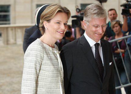 Mathilde och Philippe firade minnet av kung Baudouin