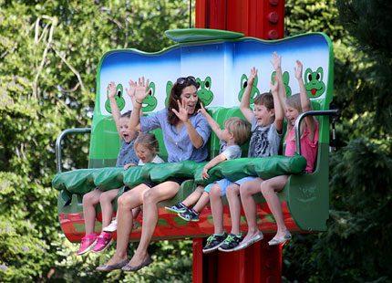 Danska kronprinsfamiljen på Legoland