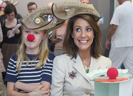 Prinsessan Marie pratade med barnen på sjukhuset i Odense