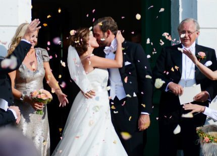 Jonas Bergströms och Stephanie af Klerckers vackra bröllop