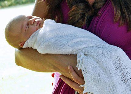Prinsens vita babyfilt och annat smått och gott