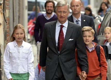Skolstart för belgiska prinsar och prinsessor