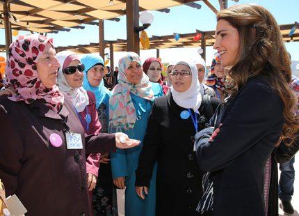 Drottning Rania mötte lärare