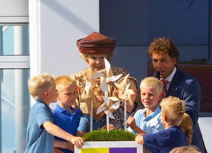 Beatrix besökte vindpark