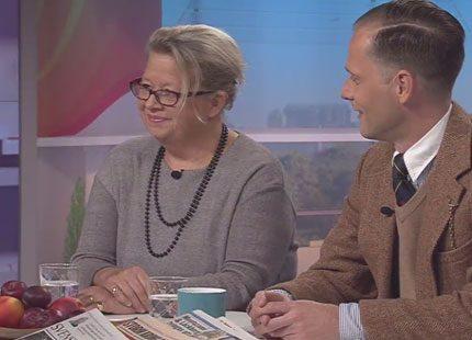 Se Svensk Damtidnings chefredaktör tala om kungen 40 år på tronen