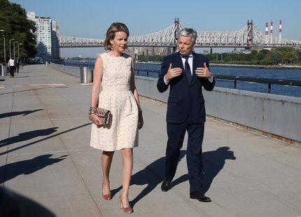 Drottning Mathilde är i New York