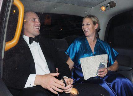 Galakväll för gravida Zara Phillips och maken Mike