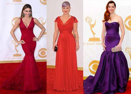 Färgglatt vimmel från Emmy-galan