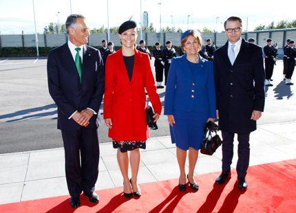 Idag anlände Portugals president till Arlanda