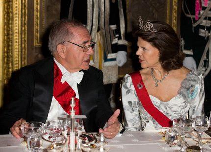 Galamiddag på slottet för Portugals presidentpar
