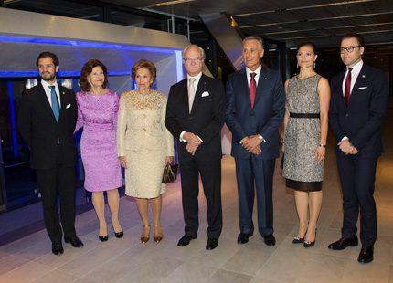 Middag på hotell för presidentparet och kungafamiljen