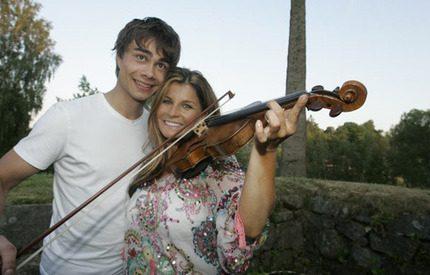 Det nya paret Carola och Alexander gjorde storsuccé