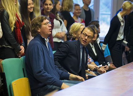 Prins Daniel besökte skola i Blackeberg