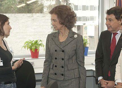 Drottning Sofia besökte universitetssjukhus