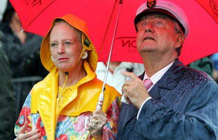 Drottning Margrethe inte rädd för lite regn