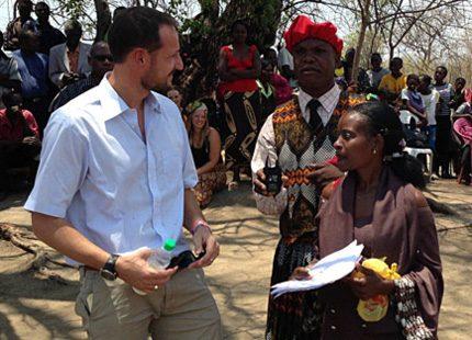 Kronprins Haakon besökte Afrika