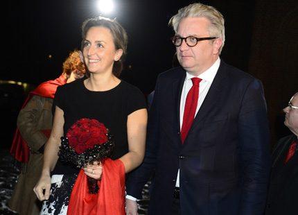 Laurent och Claire på filmpremiär