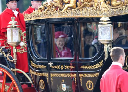 Drottning Elizabeth tog emot Sydkoreas president