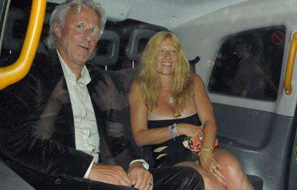 Björn Borg och Patricia festar i London