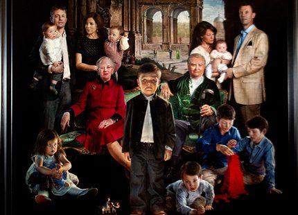 Nytt porträtt på den danska kungafamiljen