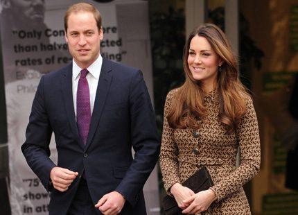 Kate och William på uppdrag i London under dagen