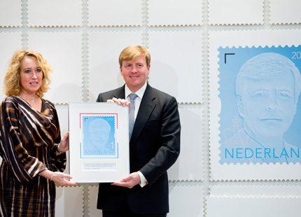 Willem-Alexander - nu även som frimärke
