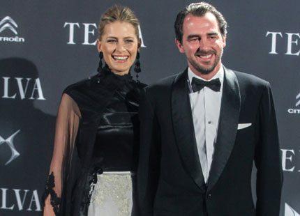 Prins Nikolaos och prinsessan Tatiana på modevisning i Madrid