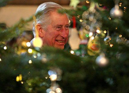 Firar första julen som farfar - med mormor och morfar