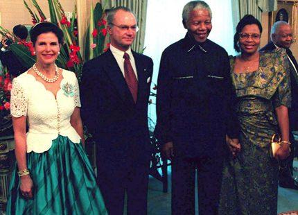 Svenska kungaparets möte med Mandela