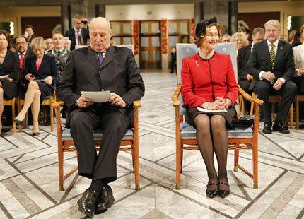 Kronprinsessan Mette-Marit uteblev från Nobel