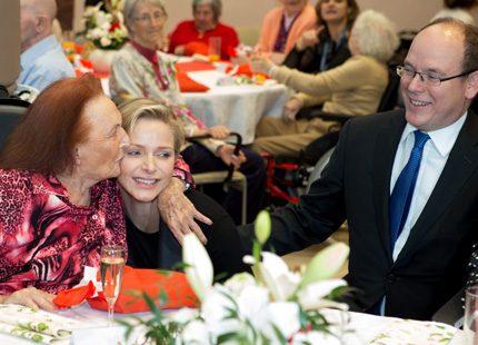 Uppskattat besök - Charlene och Albert önskade god jul