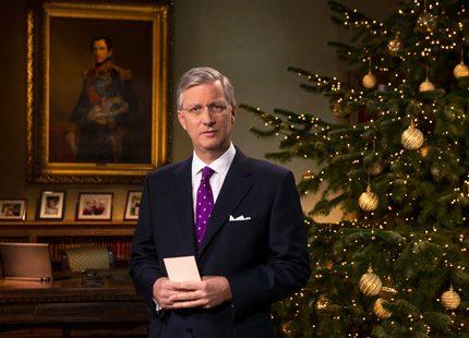 Även kung Philippe höll ett jultal