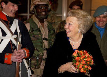 Prinsessan Beatrix på konsert i Haag