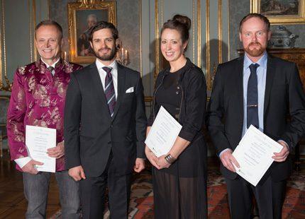 Prins Carl Philip på stipendieutdelning