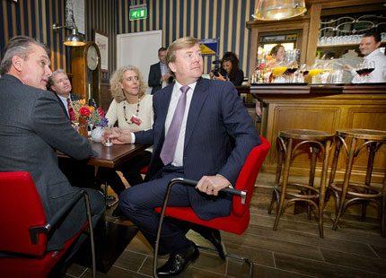 Kung Willem-Alexander träffade entrepenörer