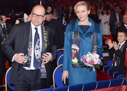 Fursteparet delade ut pris under Monte-Carlo Circus Festival Awards