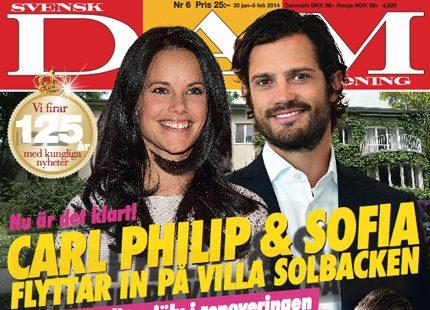 Nytt nummer ute nu: Carl Philip och Sofia flyttar in på Villa Solbacken
