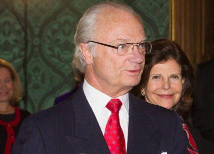 Medaljutdelning på Kungliga slottet