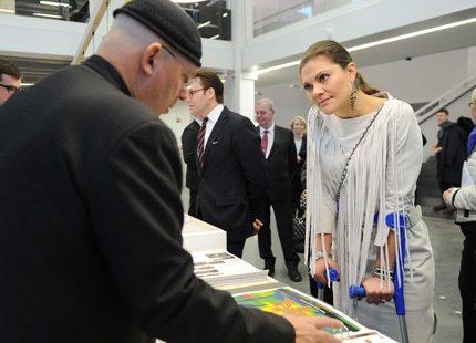 Victoria och Daniel mötte konstnärer och arkitekter