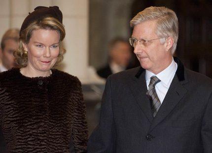 Mathilde och Philippe på minnesmässa