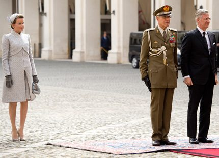 Philippe och Mathilde på besök i Rom