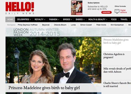 Så uppmärksammas Madeleines baby i utländsk press
