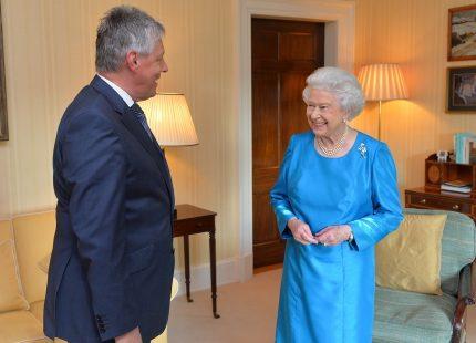Drottning Elizabeth träffade Nordirlands premiärminister