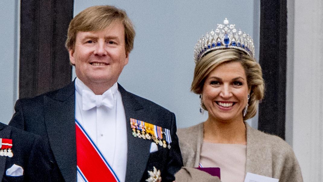 Drottning Máxima i handmålad klänning